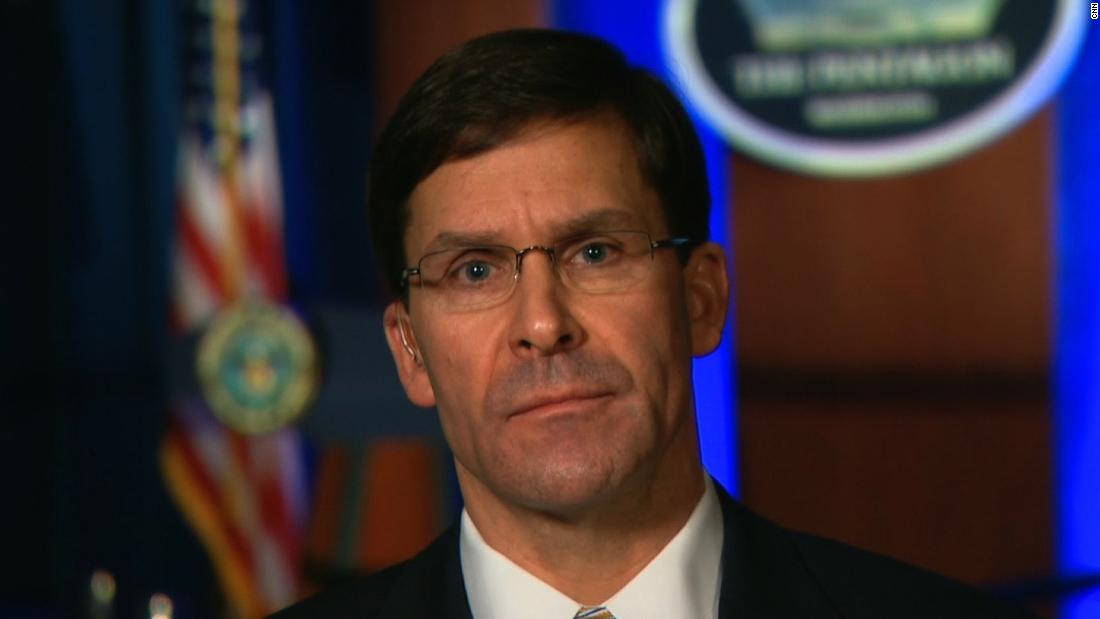 Esper says US isn't looking 'to start a war with Iran, but we are prepared to finish one' - CNN