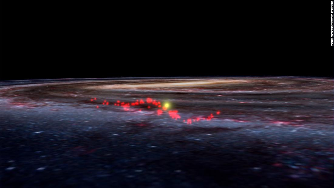 Astronomers discover giant wave-shaped structure in the Milky Way