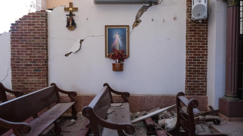 The quake wrecked the historic Inmaculada Concepcion Church in Guayanilla.