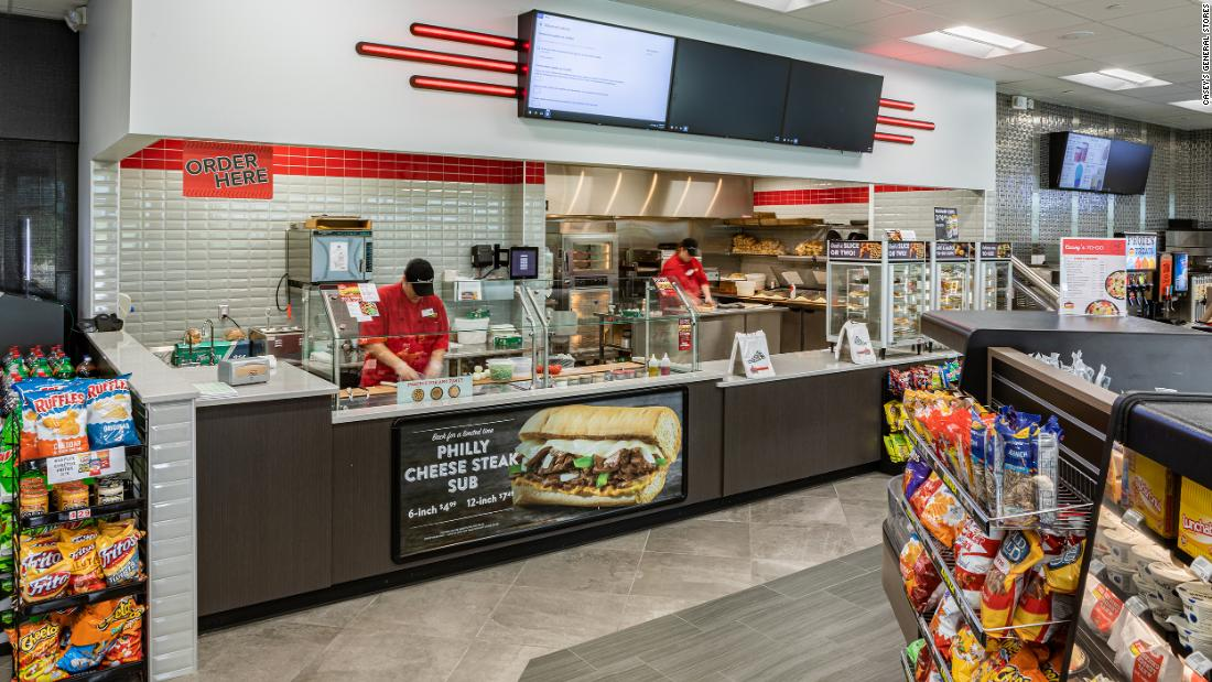Casey's, based in Iowa, has grown to become America's fifth largest pizza chain.
