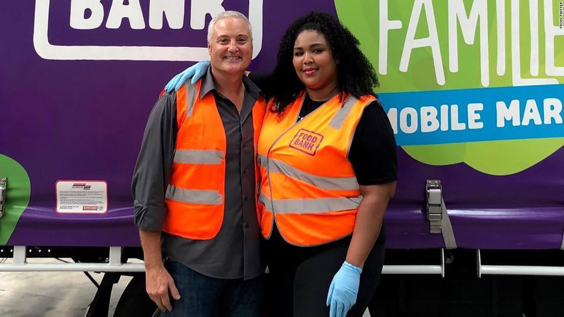 Lizzoボランティアオーストラリアの食銀行