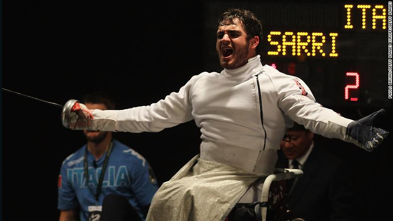 Dimitri Coutya won his first IWAS Wheelchair Fencing World Championships gold at the age of just 20.