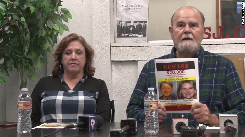 """Kay and Larry Woodcock are offering a $20,000 reward for information leading to the recovery of their grandson, Joshua """"JJ"""" Vallow, and his sister, Tylee Ryan."""