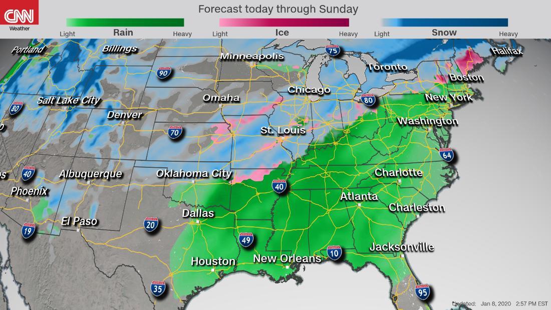Ein triple threat Sturm bringen könnte, Tornados, Schnee und überschwemmungen zu Millionen in diesem Wochenende