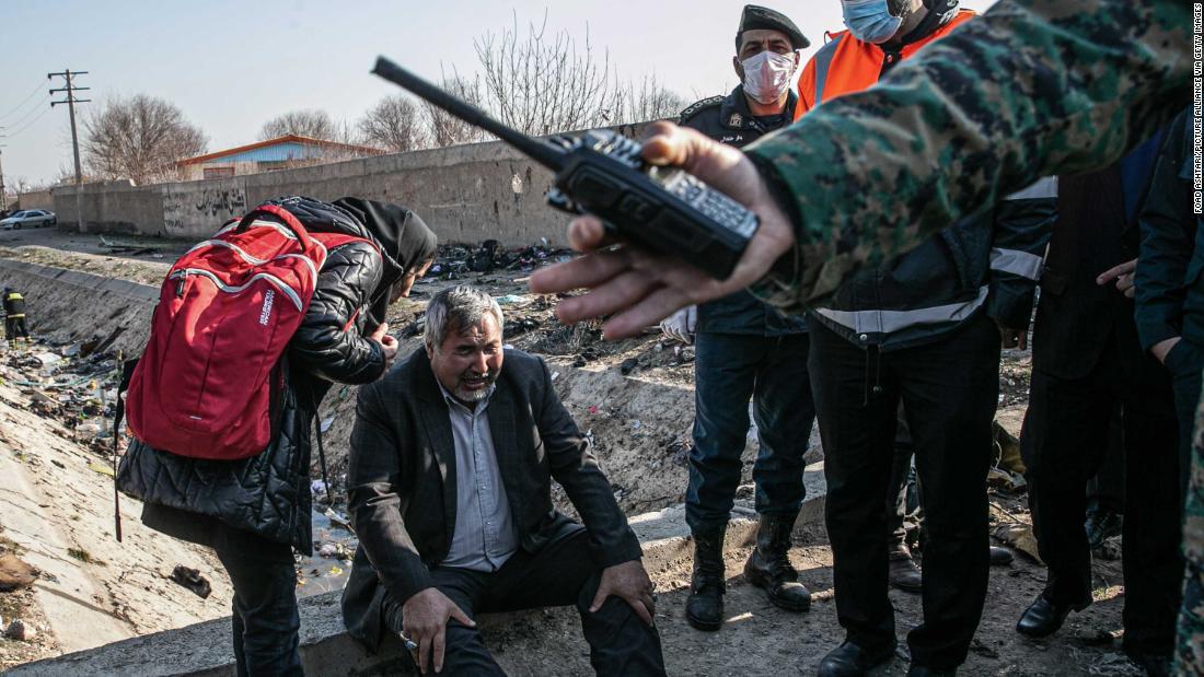 写真:ウクライナの平面クラッシュイラン