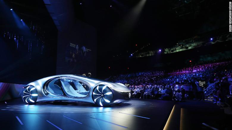 The Mercedes-Benz Vision AVTR displays technology that could, theoretically, allow the driver to communicate with the car through touch.