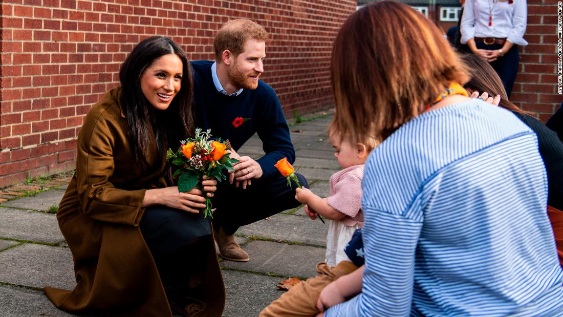 Meghan and Harry visit a community center in Windsor, England, in November 2019.