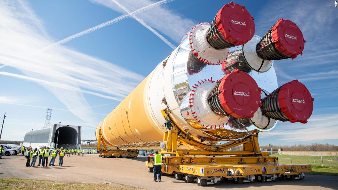 Massive NASA rocket part to help put first woman on the Moon, to be ferried up Mississippi River on barge