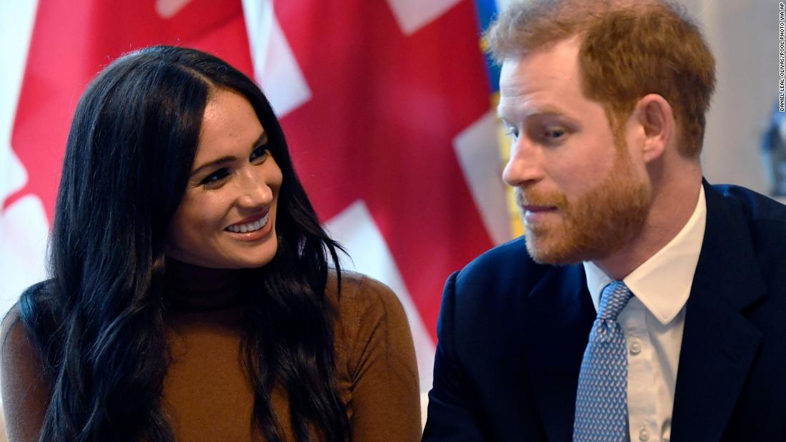 "Meghan and Harry visit the Canada House in London on January 7. The couple announced the next day that they would be <a href=""https://www.cnn.com/2018/03/12/world/gallery/prince-harry-meghan-markle-relationship/index.html"" target=""_blank"">stepping back from their roles</a> as senior members of the British royal family."
