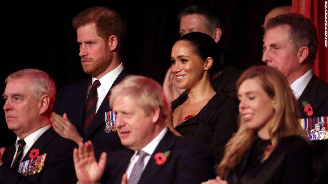 The couple attends the annual Festival of Remembrance in November 2019.