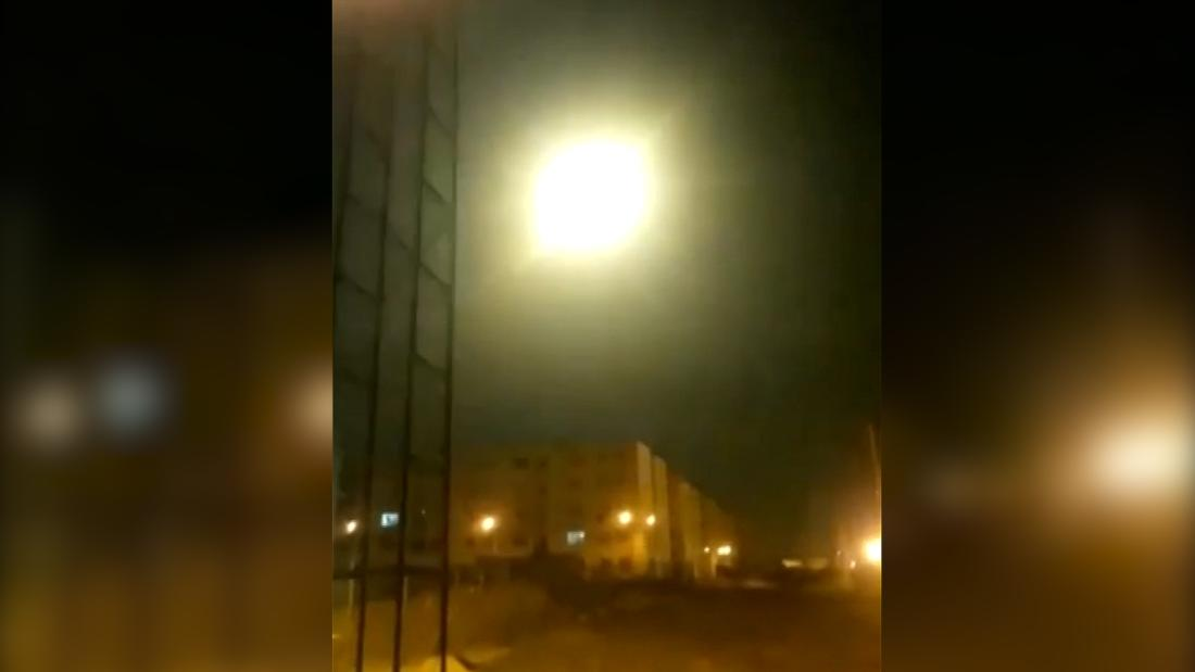 New video appears to show missile striking object in sky