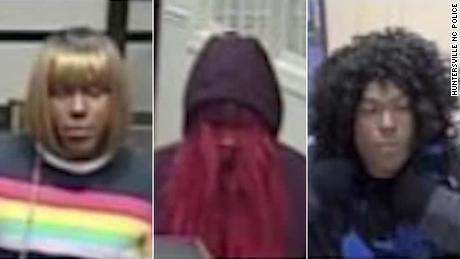 Le autorità stanno cercando un rapinatore di banche che stanno cercando. Bad Wig Dandit & # 39;