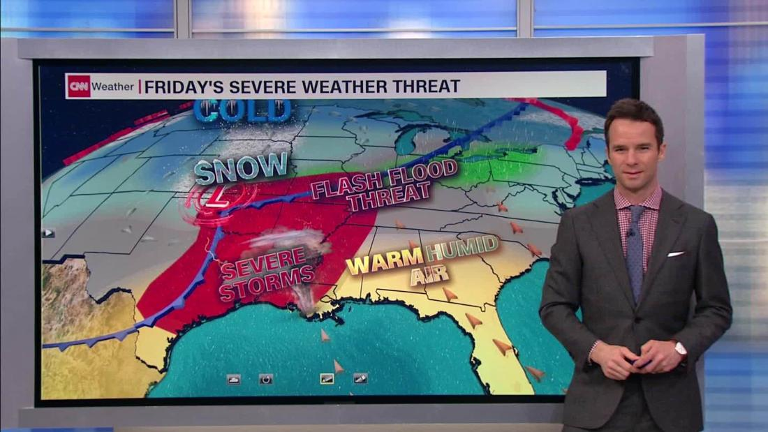 Multiday厳しい気候システムの少アメリカ東部から中央部では、