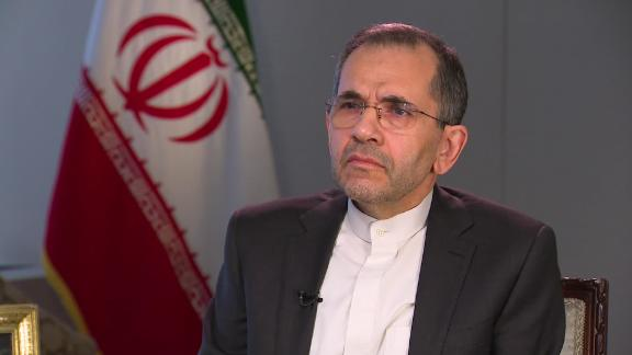Image for Iran's UN ambassador says missile strikes weren't intended to kill Americans