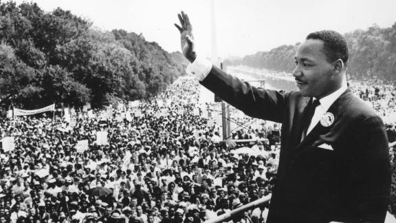 Martin Luther King Jr. at the March on Washington in 1963 (Photo by Central Press/Getty Images)