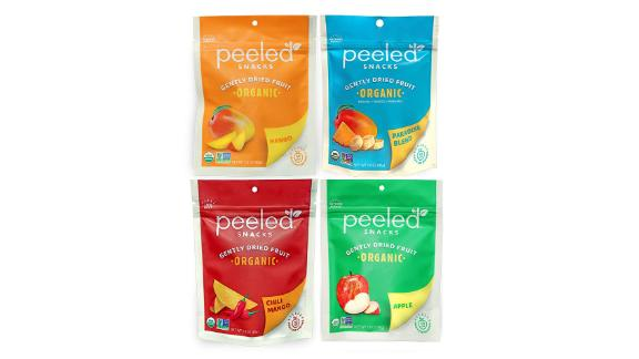Peeled Snacks Organic Dried Fruit Variety Pack, 4-Pack