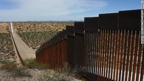 This picture taken on August 28, 2019 shows a portion of the wall on the US-Mexico border seen from Chihuahua State in Mexico, some 100 km from the city of Ciudad Juarez.