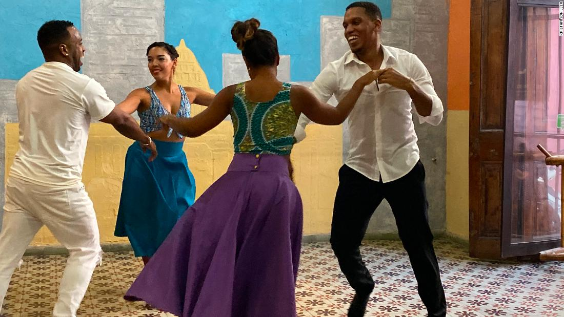<strong>Dancing in Havana. </strong>Members of a Friendly Planet tour visit La Casa del Son to watch these dance instructors demonstrating their their salsa, cha-cha and mambo moves and dance with them.