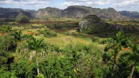 The Viñales Valley. Known as the garden of Cuba, the Viñales Valley was designated a UNESCO World Heritage Site in 1999 for its natural beauty and use of traditional agricultural methods.