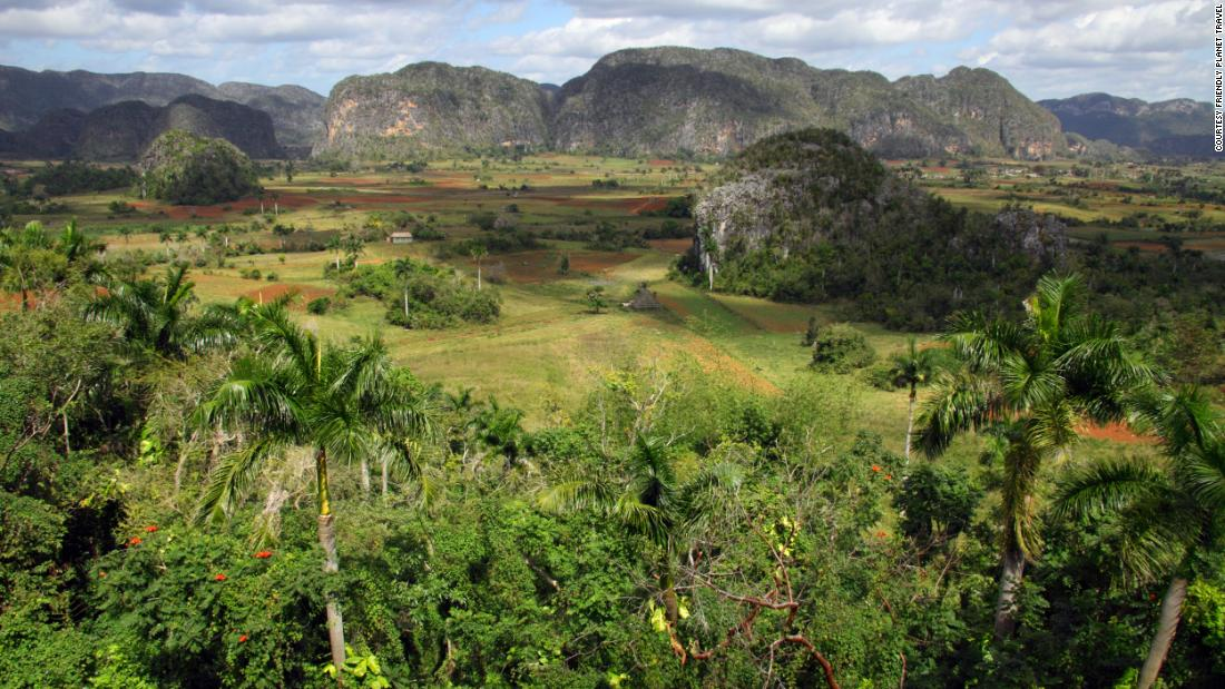 "<strong>The Viñales Valley.</strong> Known as the garden of Cuba, the Viñales Valley <a href=""https://whc.unesco.org/en/list/840/"" target=""_blank"">was designated a UNESCO World Heritage Site</a> in 1999 for its natural beauty and use of traditional agricultural methods."