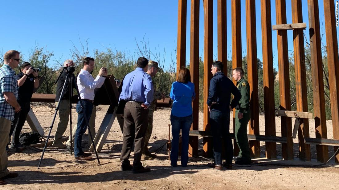 DHS has requested Pentagon assistance to build 270 miles of border wall