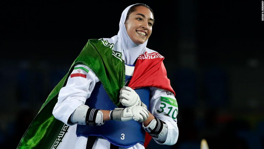Iran's sole female Olympic medalist says she's defected thumbnail