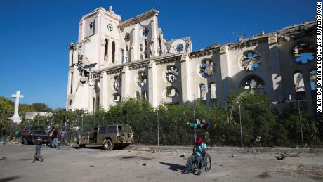 The Port-au-Prince Cathedral, destroyed by the 2010 earthquake, still hasn't been rebuilt 10 years later.