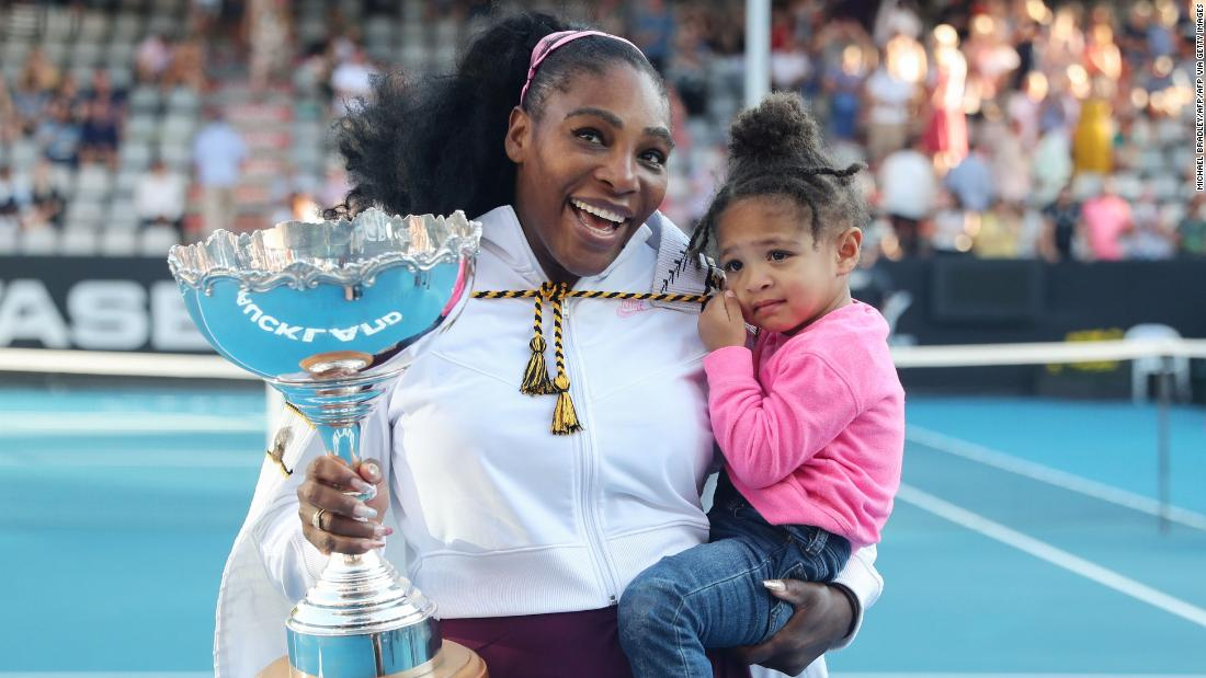 Image result for serena williams wins first title as mom