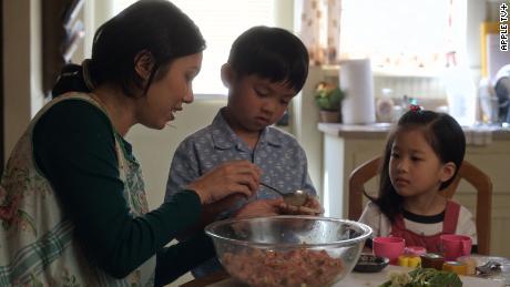 Angela Lin, Kai To and Sophia Xu in 'Little America.'