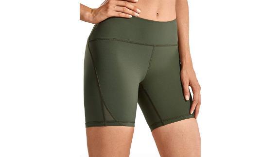 CRZ Yoga Women's Naked Feeling High-Waist Biker Shorts