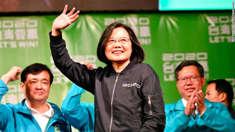 Taiwan's president wins reelection in landslide victory