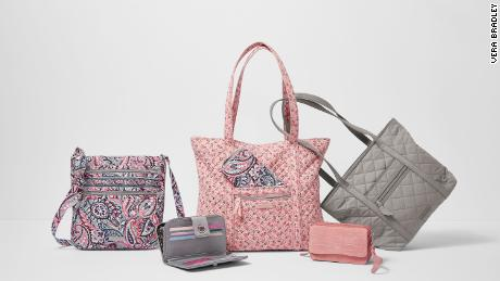 A new Vera Bradley collection of bags made of water-resistant cotton in plain colors is aimed at young working women.