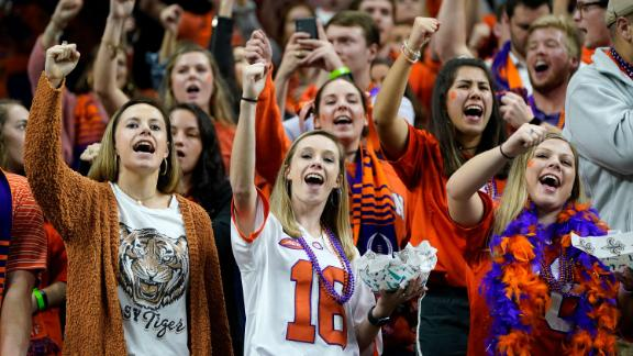 Clemson fans get ready for kickoff.