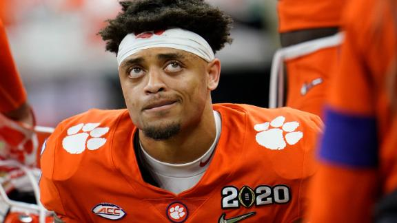 Clemson cornerback A.J. Terrell sits on the bench during the second half.