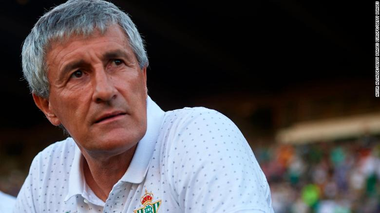 Quique Setien during his time in charge of Real Betis.