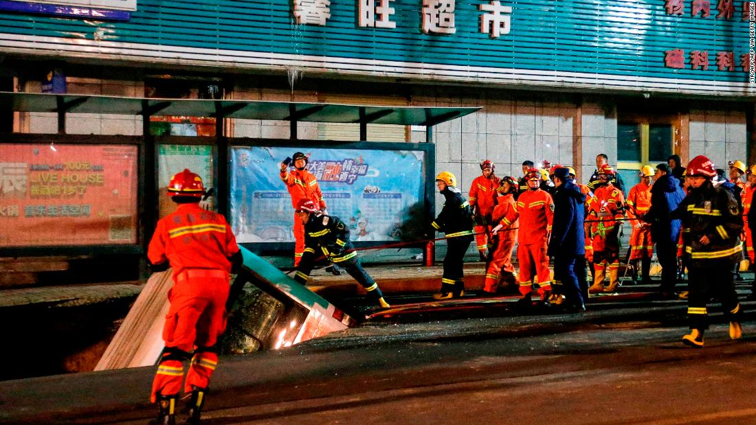 Enormous sinkhole in China swallows bus and passengers, killing at least 6 people