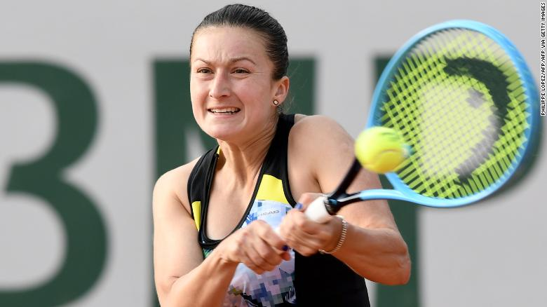 Dalila Jakupovic in action during last year's French Open at Roland Garros.