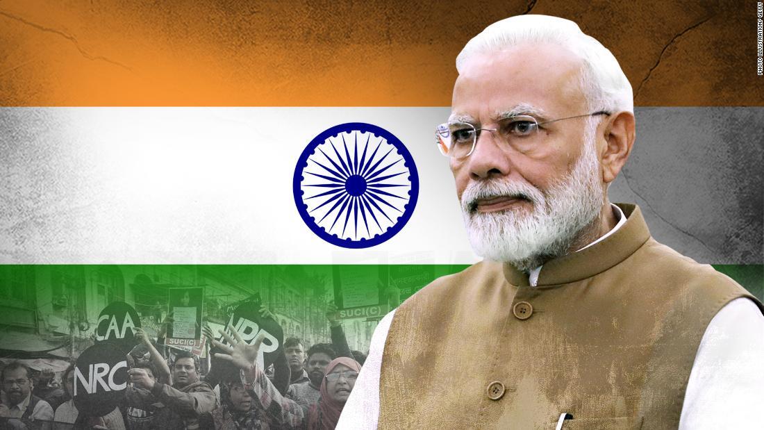 Proteste und einer sich abschwächenden Konjunktur buchstabieren rocky road ahead für Indien ist Narendra Modi