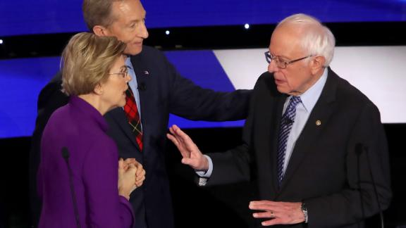 In a tense and dramatic exchange moments after a Democratic debate, Warren accused Sanders of calling her a liar on national television. Sanders responded that it was Warren who called him a liar. Earlier in the debate, the two disagreed on whether Sanders told Warren, during a private dinner in 2018, that he didn