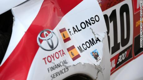 Neither Alonso and his co-driver Marc Coma sustained injuries during the crash.