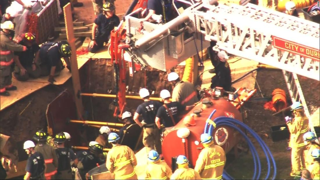 A worker was killed and others were rescued after trench collapsed during construction in North Carolina thumbnail