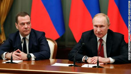 Dmitry Medvedev Announces Russian Government Resigning After Vladimir Putin Proposed Constitutional Changes Cnn Video