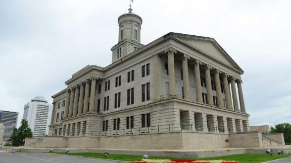 Lawmakers at the Tennessee State Capitol in Nashville, Tennessee, had passed a bill that would require businesses that allow transgender customers to use their preferred restroom to post a notice outside entrances. A federal judge blocked the law from being enforced.