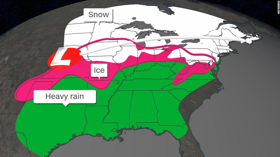 Σημαντική χιόνι και τον πάγο, θα χτυπήσει τα μέρη ΜΑΣ