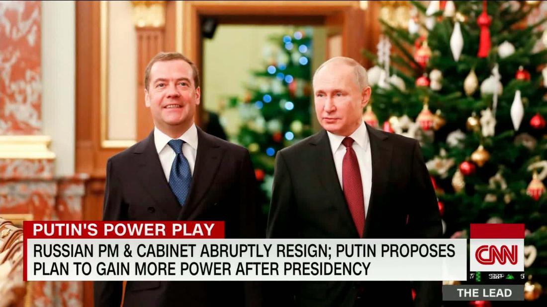 Russian PM & cabinet abruptly resign; Putin proposes plan to expand power