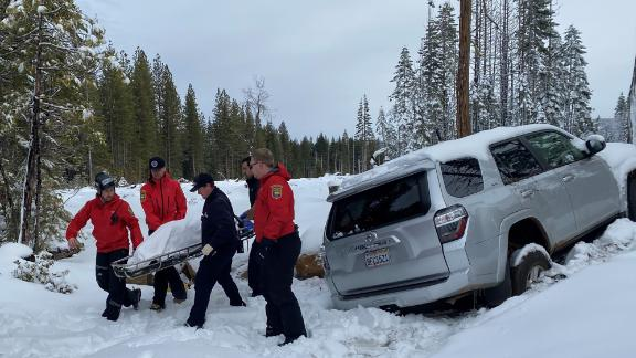 Image for California woman was found alive inside her snow-covered vehicle after weeklong search