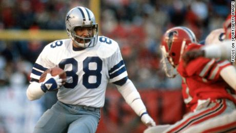 Pearson plays for the Cowboys in 1980.