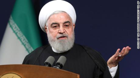 "In this photo released by the official website of the office of the Iranian Presidency, President Hassan Rouhani speeches before the heads of banks, in Tehran, Iran, Thursday, Jan. 16, 2020. Iran's president said Thursday that there is ""no limit"" to the country's enrichment of uranium following its decision to abandon its commitments under the 2015 nuclear deal in response to the killing of its top general in a U.S. airstrike. (Office of the Iranian Presidency via AP)"