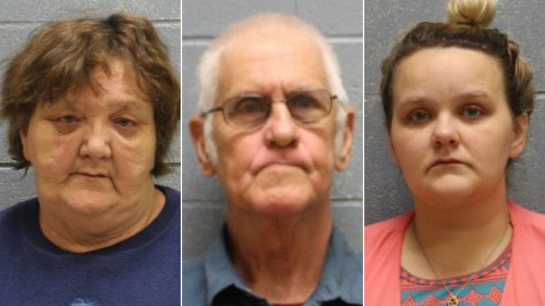 Pamela Deloris Bond (left), James H. Bond (center) and Kylla Michelle Mann face charges related to alleged abuse.