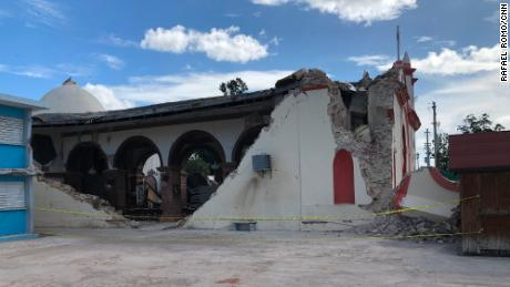 Immaculate Conception Catholic Church in Guayanilla was severely damaged.